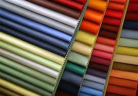 Upholstery material swatches you will find at an upholstery supply store