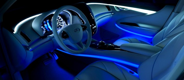 Door panels innovations auto interiors - Led lights for cars interior install ...